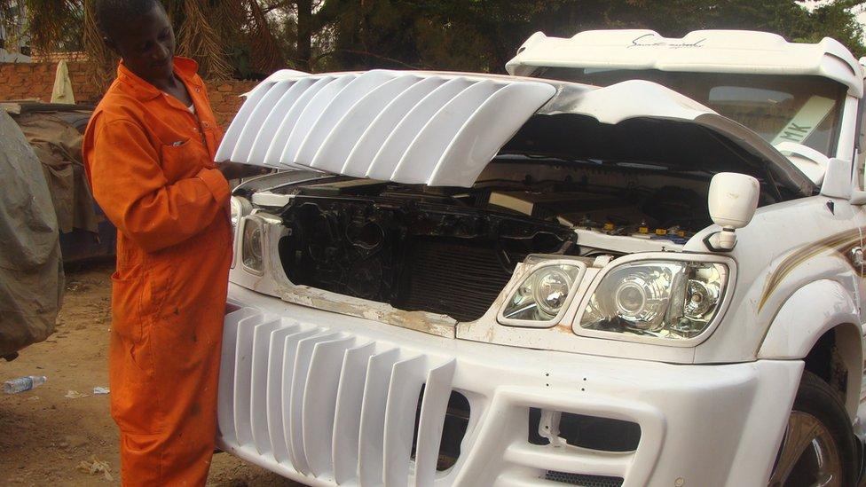In Pictures Uganda S Pimp My Ride Garage Bbc News