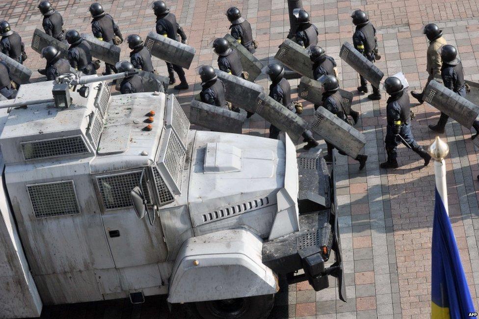 Riot police in Kiev (21 February 2014)