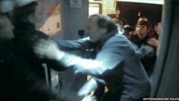 CCTV of Newark fight