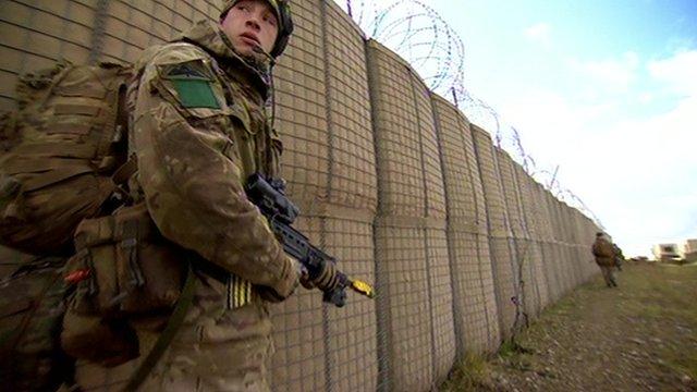 An infantryman training on Salisbury Plain