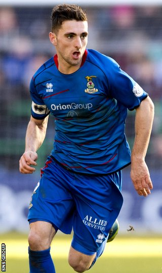 Inverness full-back Graeme Shinnie