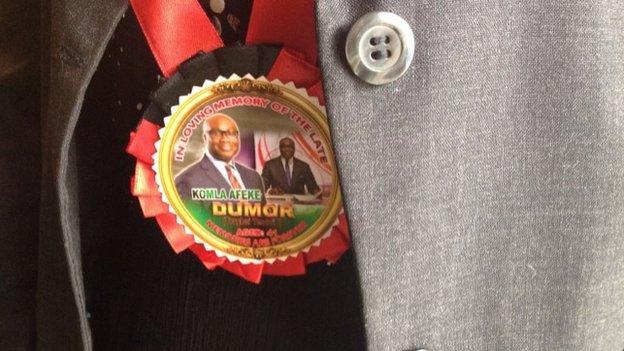 Medallion for Komla Dumor's funeral