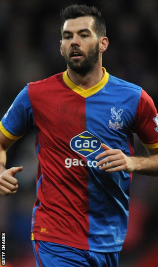 Crystal Palace midfielder Joe Ledley