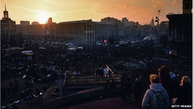 The sun sets over a historic day in Independence Square
