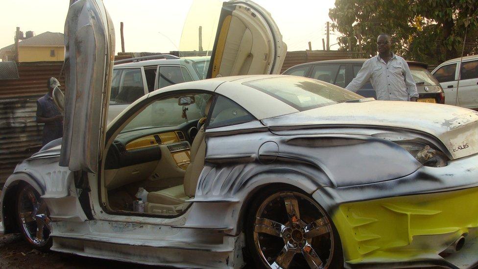 In Pictures Ugandas Pimp My Ride Garage BBC News