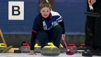 Youngsters taking part in curling in Lockerbie