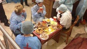Medics in Kiev (21 February 2014)