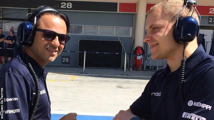 Felipe Massa and Valtteri Bottas