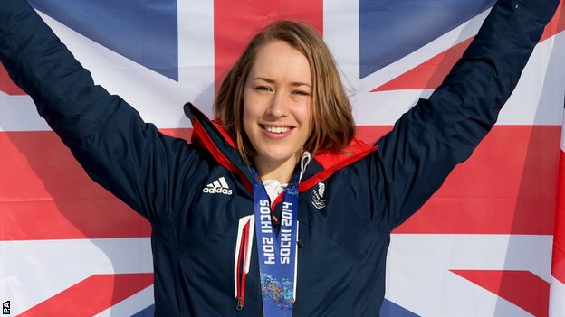 Lizzy Yarnold, winner of the women's skeleton at Sochi 2014