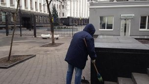 Cleaner outside presidency. 22 Feb 2014