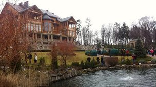 Yanukovych's residence outside Kiev