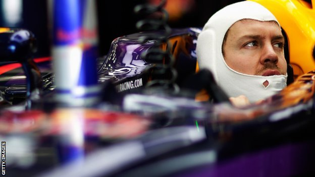 Sebastian Vettel of Red Bull at second pre-season test in Bahrain