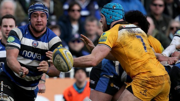 Wasps' James Haskell and Bath's Leroy Houston