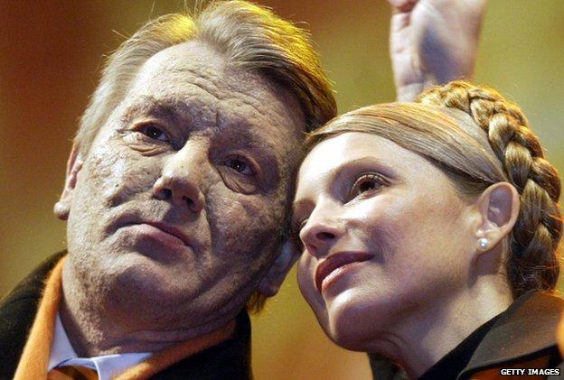 Viktor Yushchenko and Yulia Tymoshenko