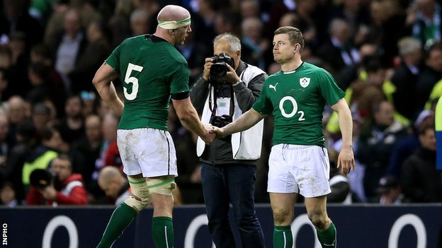 Paul O'Connell and Brian O'Driscoll