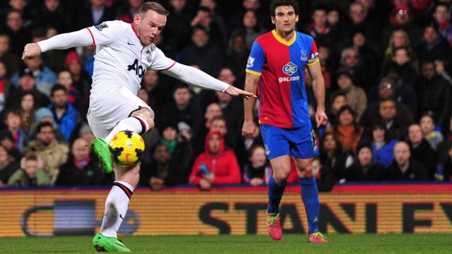 Crystal Palace 0-2 Manchester United: Wayne Rooney blasts home