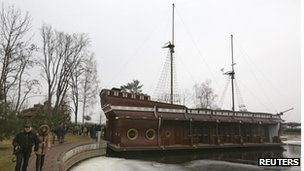 A ship at Viktor Yanukovych's residence