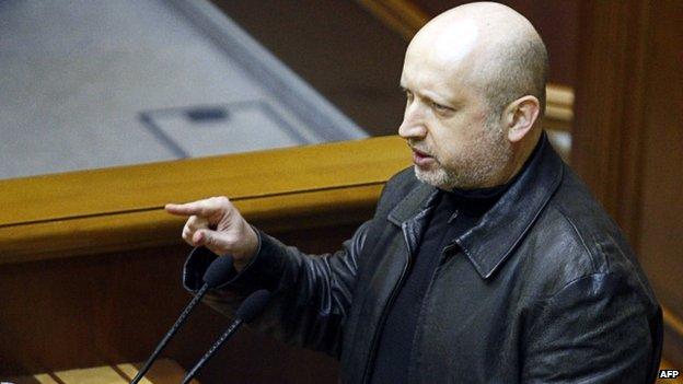 Parliament speaker in Ukraine, Oleksandr Turchynov, 22 February 2014