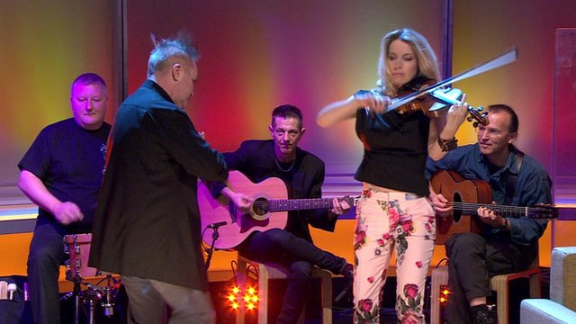 Nigel Kennedy and Eos from The Bond Quartet on the Andrew Marr Show