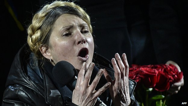 Yulia Tymoshenko at Maidan, 22 Feb 14