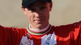 Chris Froome in Tour of Oman's red jersey