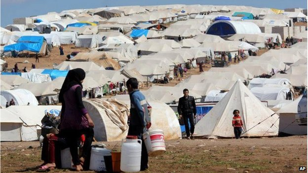 File image of the Atmeh refugee camp in northern Syria