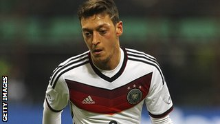 Germany midfielder Mezut Ozil