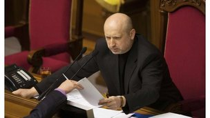 Newly-elected speaker of parliament Oleksandr Turchynov attends a session in Kiev February 23, 2014