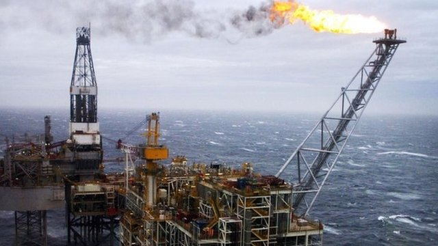 Oil rig in the North Sea