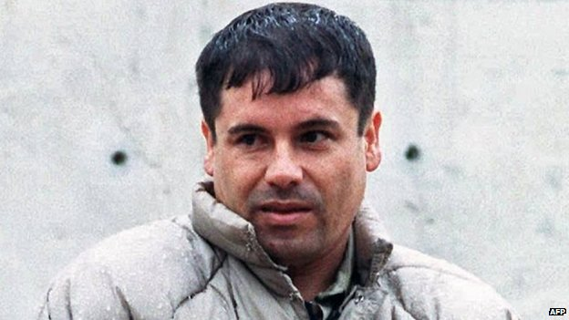 This file photo dated July 10, 1993 shows Joaquin Guzman at the Almoloya de Juarez, Mexico