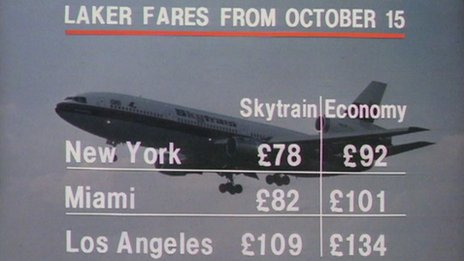 Laker Airways price list