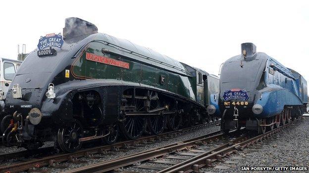 Union of South Africa and Mallard locomotives