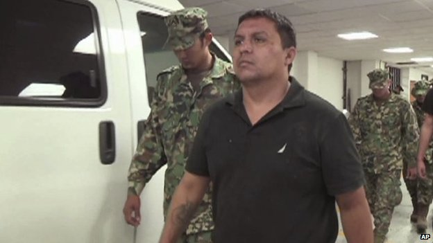 An image taken from video footage released by the Mexican Navy shows Zetas cartel leader Miguel Angel Trevino Morales, Z-40.