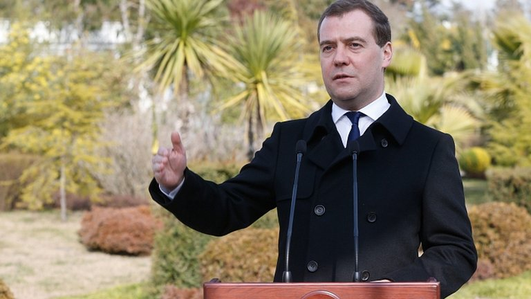 Russian Prime Minister Dmitry Medvedev. 24 Feb 2014