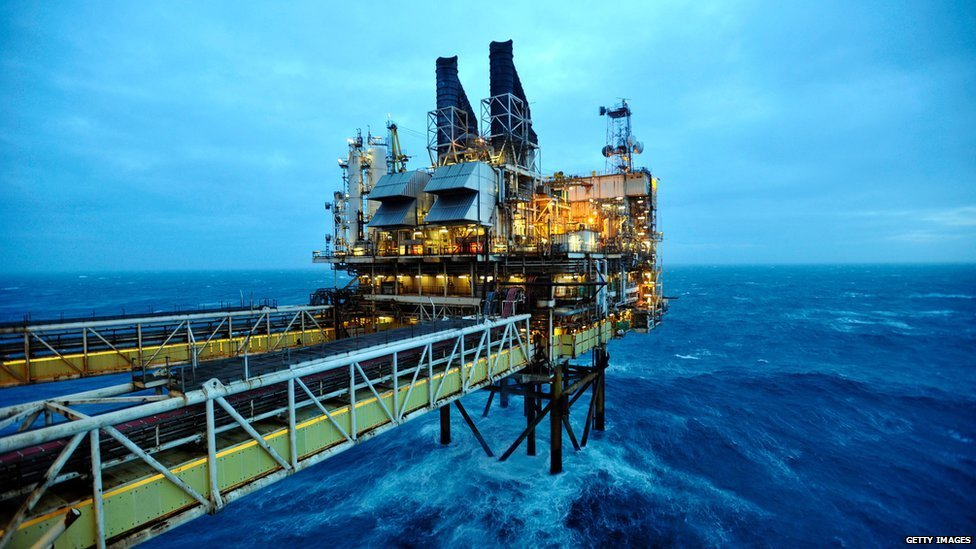 An oil platform around 100 miles from Aberdeen where ministers from both the UK and Scottish governments are meeting to put forward their separate visions for the future of the North Sea's oil and gas industry