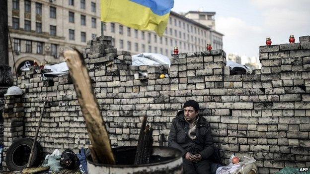 Barricade in Kiev. 24 Feb 2014
