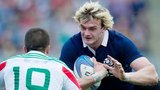 Richie Gray in action against Italy