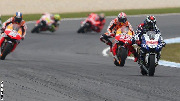 MotoGP bikes