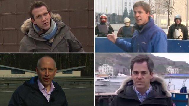 BBC reporters around the Ukraine