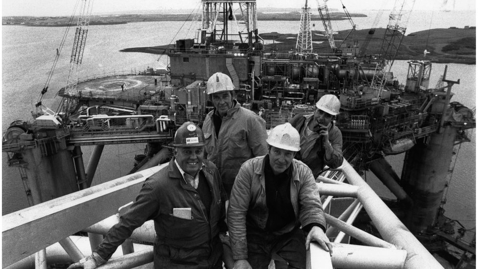 By 1980 dozens of 100 oil and gas platforms had been installed in the North Sea and the industry was enjoying a boom set to last another eight years