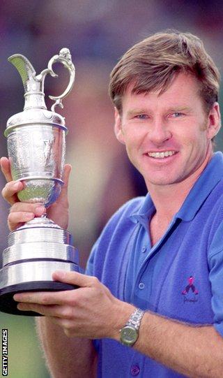 Six-time major champion Sir Nick Faldo