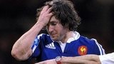 France scrum-half Maxime Machenaud looks dejected during their defeat by Wales