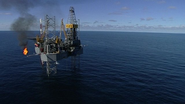 A North Sea oil platform