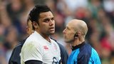 England prop Billy Vunipola suffers ankle injury against Ireland at Twickenham on Saturday