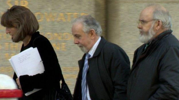 John Downey entering court