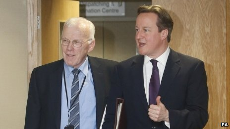 Sir Ian Wood and David Cameron