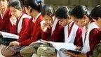 Indian school children prepare for exams in Delhi on 1 March 2012