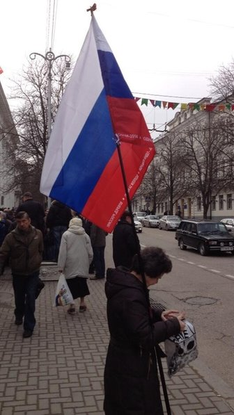Russian flag in Sevastopol, 25 February 2014