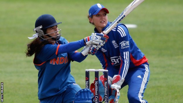 India's Sulakshana Naik and England's Sarah Taylor