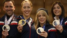 Some of Team GB's medal winners at Sochi 2014